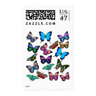 Mariposas que agitan por el franqueo estampillas