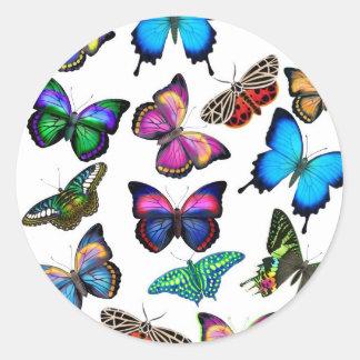 Mariposas que agitan por el pegatina