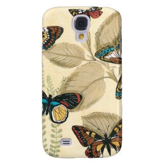 Mariposas que se deslizan sobre las hojas funda para galaxy s4