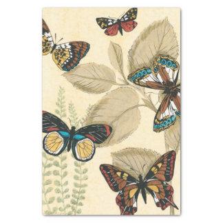 Mariposas que se deslizan sobre las hojas papel de seda pequeño