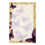 Mariposas reales (violetas)  papeleria de diseño