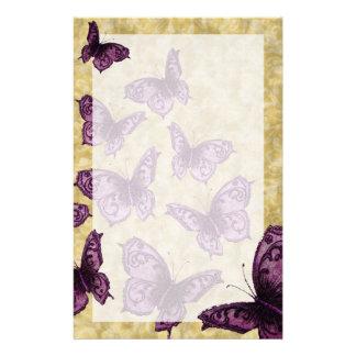 Mariposas reales (violetas) papelería personalizada