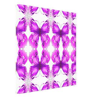 Mariposas reflejadas de la conciencia impresión en lona estirada