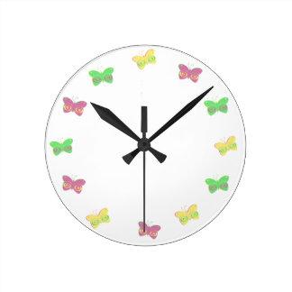 Mariposas Reloj Redondo Mediano