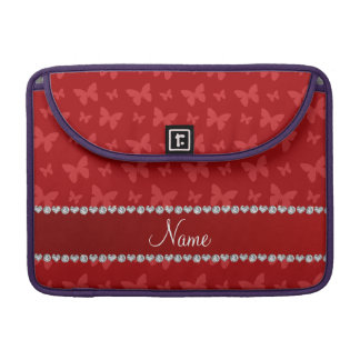 Mariposas rojas conocidas personalizadas funda para macbooks