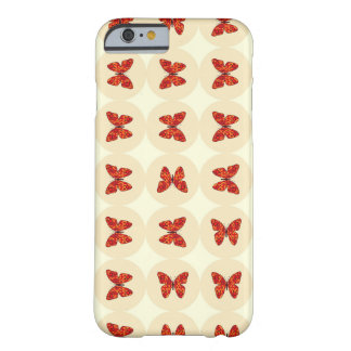 Mariposas rojas funda de iPhone 6 barely there