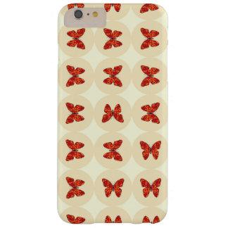 Mariposas rojas funda de iPhone 6 plus barely there
