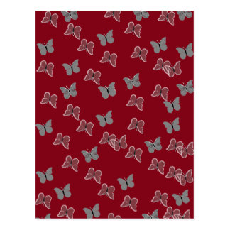 Mariposas rojas postales