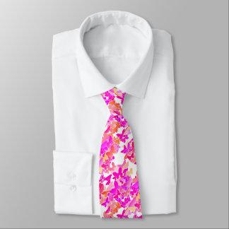 Mariposas, rosa, fucsia y coral corbata