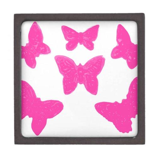 Mariposas rosadas cajas de regalo de calidad