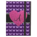 Mariposas rosadas de la púrpura del corazón del mo