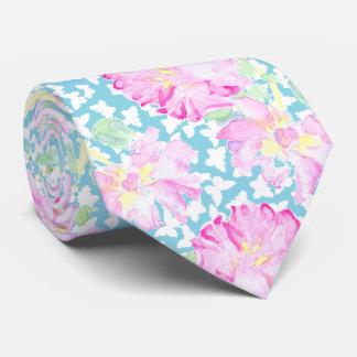 Mariposas rosadas del rosa y blancas en azules corbatas
