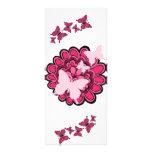 ¡Mariposas rosadas en la floración! - Tarjeta del  Lona Publicitaria