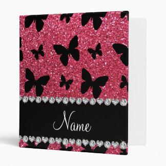 "Mariposas rosadas fucsias conocidas personalizadas carpeta 1"""