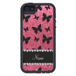 Mariposas rosadas fucsias conocidas personalizadas iPhone 5 Case-Mate cárcasa