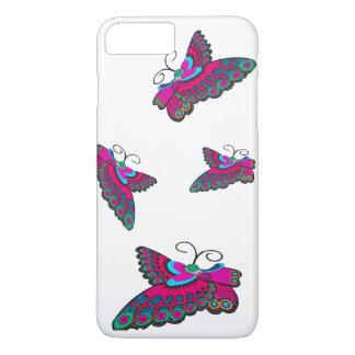 Mariposas rosadas funda iPhone 7 plus