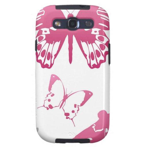 Mariposas rosadas galaxy s3 fundas