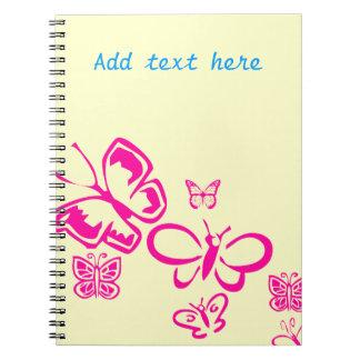 Mariposas rosadas libretas