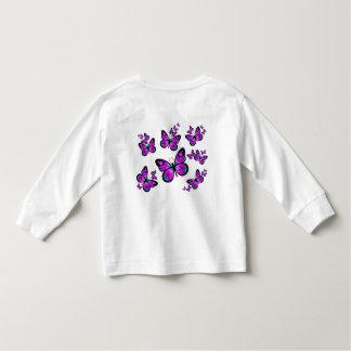 Mariposas rosadas playera de bebé