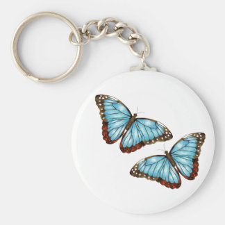 Mariposas salvajes llavero redondo tipo pin