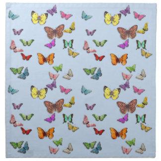 Mariposas Servilletas Imprimidas