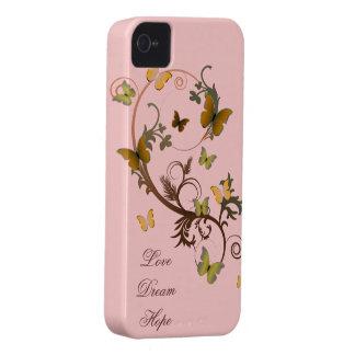 Mariposas terrosas funda para iPhone 4