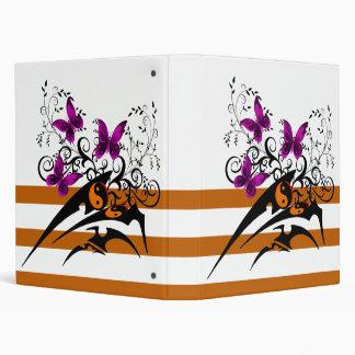 """Mariposas tribales de Yin Yang, rosadas Carpeta 1"""""""