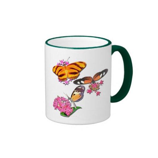 Mariposas tropicales tazas