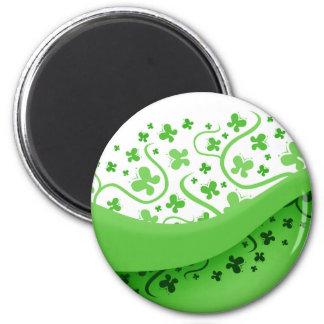 Mariposas verdes abstractas imán de frigorifico