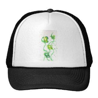 Mariposas verdes y amarillas gorra