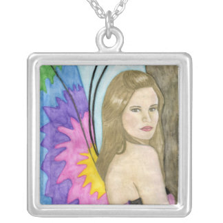 Mariposa's Wings Silver Plated Necklace