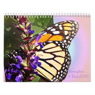Mariposas y abejas calendarios de pared