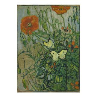 Mariposas y amapolas de Vincent van Gogh Comunicado