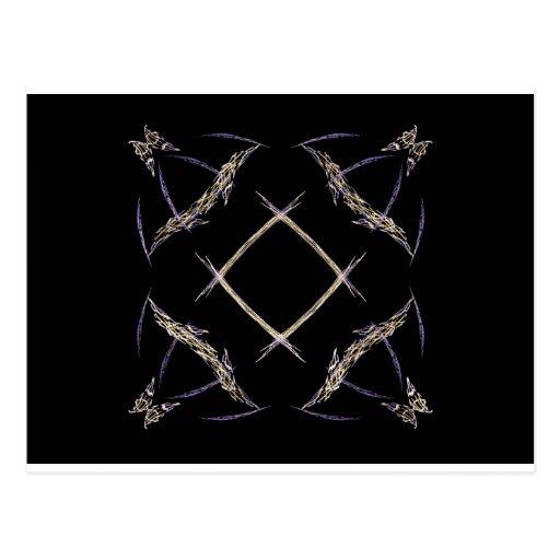 Mariposas y arte del fractal de la muestra de tarjeta postal