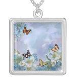 Mariposas y azules colgante personalizado