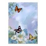 Mariposas y azules invitación 8,9 x 12,7 cm