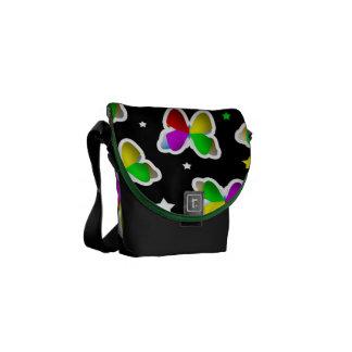 Mariposas y bolsa de mensajero cero de las estrell bolsa de mensajeria