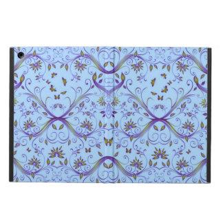 Mariposas y caja abstracta floral del aire del iPa