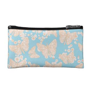 Mariposas y caja cosmética de los azules la pequeñ