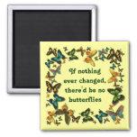 mariposas y cambio iman para frigorífico