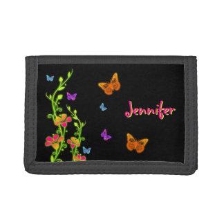 Mariposas y cartera de neón personalizadas de las