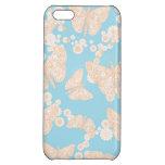 Mariposas y caso brillante de Iphone 5 de los azul