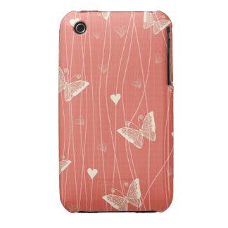mariposas y caso del iphone 3 de los corazones iPhone 3 cobertura