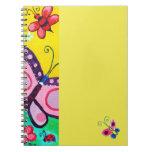 Mariposas y cuaderno de las mariquitas