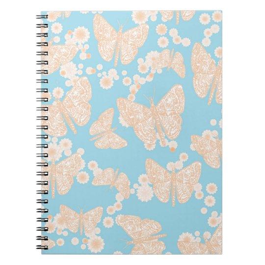 Mariposas y cuaderno de los azules