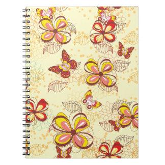Mariposas y floraciones libretas