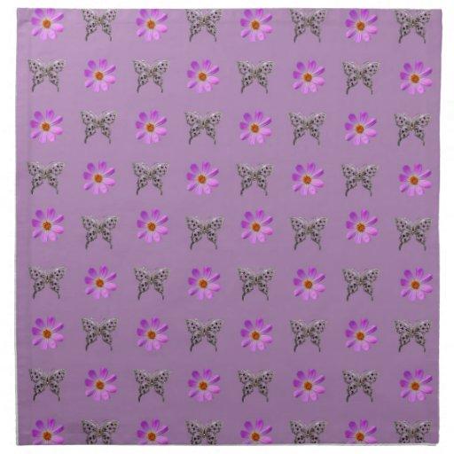 Mariposas y flores del cosmos servilleta de papel