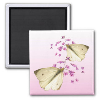 Mariposas y flores iman para frigorífico