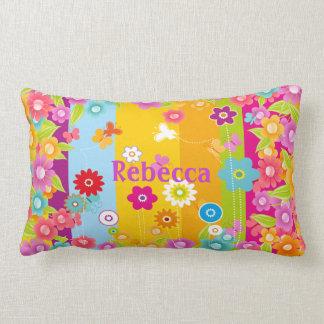 mariposas y flores personalizadas almohada