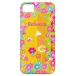 Mariposas y flores personalizadas iPhone 5 Case-Mate protectores